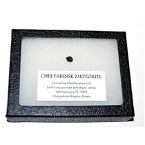 Chelyabinsk METEORITE Chondrite 2013 Russian Fall 0.3 gram plus COA SDB 6o (E)