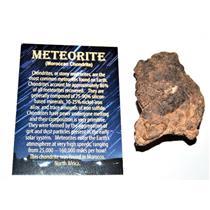 Chondrite MOROCCAN Stony METEORITE Genuine 136.0 grams w/ COA (E)