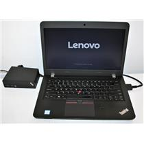 "14"" WXGA Lenovo Thinkpad E460 Intel Core i5 6200u 4GB 256GB W/ OneLink Dock !"
