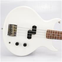 1980's Washburn Scavenger Electric Bass Guitar in White w/ Soft Case #42660