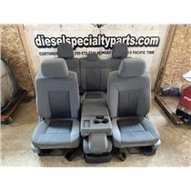 2011 - 2014 FORD F150 XLT CREW CAB (GREY) CLOTH SEATS ESC CONDITION NO RIPS