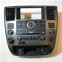 2008-12 Nissan Armada Center Dash Bose Only Radio Control Auto Climate Bezel 4WD