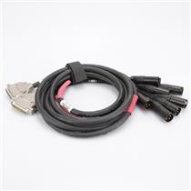 2 Mogami 3161 6' DB25 Male -XLR Male 4-Ch Digital AES/EBU Snake Cables #42944