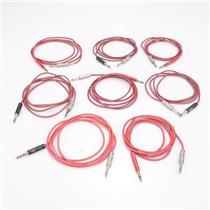 """7 Mogami / Neutrik TRS Longframe - TS 1/4"""" Hi-Def Studio Patch Cables #43034"""