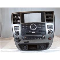 13-15 Nissan Armada Center BOSE Radio Climate Bezel 4WD Auto Climate NO NAV