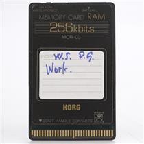 Korg MCR-03 256Kb RAM Memory Card for Wavestation #44192