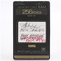 Korg MCR-03 256Kbits RAM Memory Card for Wavestation #44194