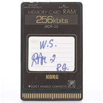 Korg MCR-03 256Kb RAM Memory Card for Wavestation #44190
