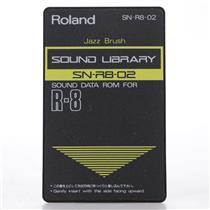 Roland SN-R8-02 Jazz Brush Sound Data ROM Card for Roland R-8 #44153