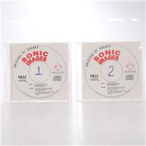 Universe of Sounds Sonic Images Vol.1&2 CD ROM Disks for Akai S1000 #44241