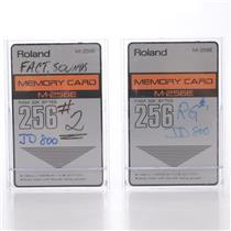 2 Roland M-256E Memory Cards w/ JD-800 Factory Sounds #44119