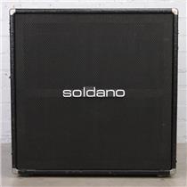Vintage Soldano 4x12 Straight Guitar Speaker Cabinet Black Alligator #44399