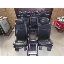 2014 FORD F450 F350 PLATINUM CREWCAB BLACK LEATHER SEATS W/ CONSOLE POWER HEAT