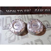 2013 -2015 FORD F450 6.7 DIESEL DUAL REAR WHEEL DRW CHROME CAPS WHEEL COVERS