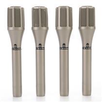 4 Cerwin-Vega UE-1 Cardioid Condenser Microphones w/ Cases & Clips #45014