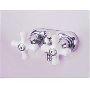 """Kingston Brass CC50T1 Vintage 3-3/8"""" Center Wall Mount ClawFoot Tub Filler Faucet - Polished Chrome"""