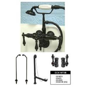 Kingston Brass CCK19T5B Vintage ClawFoot Tub Filler-Shower Mixer Kit - Oil Rubbed Bronze