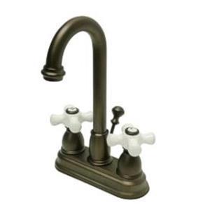 "Kingston Brass KB3615PX Restoration 4"" Centerset Bathroom Sink Faucet - Oil Rubbed Bronze"