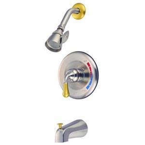 Tub & Shower Diverter Faucet Satin Nickel & Brass KB639