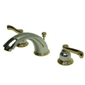 Kingston Brass KB8964FL Royale Widespread Bathroom Sink Faucet - Polished Chrome With Brass Trim