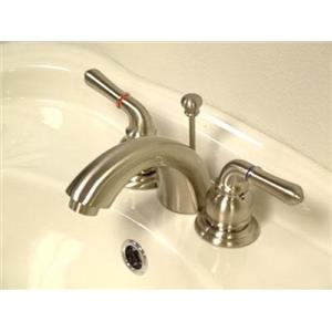 Kingston Bathroom Sink Faucet Satin Nickel KB958