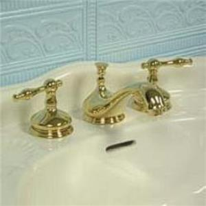 "Kingston Brass KS1162NL Heritage Hertiage 8"" -16"" Widespread Bathroom Sink Faucet -  Polished Brass"