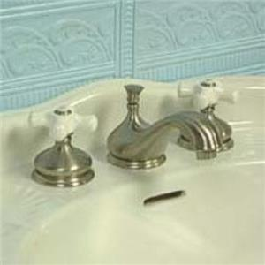 "Kingston Brass KS1168PX Heritage 8"" -16"" Widespread Bathroom Sink Faucet - Satin Nickel"