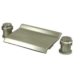Kingston Brass KS2248MR Waterfall Roman Tub Filler - Satin Nickel