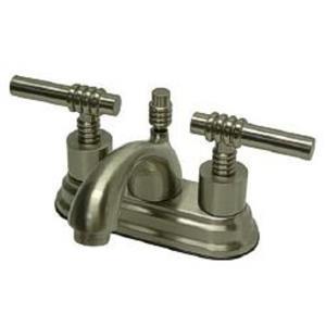 "Kingston Brass KS2608ML Milano 4"" Centerset Bathroom Sink Faucet - Satin Nickel"