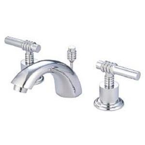 "Kingston Brass KS2951ML Milano 4"" -12"" Widespread Bathroom Sink Faucet - Polished Chrome"