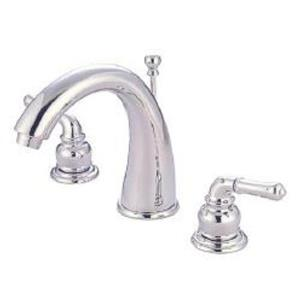 "Kingston Brass KS2961 Naples 8"" -16"" Widespread Bathroom Sink Faucet - Polished Chrome"