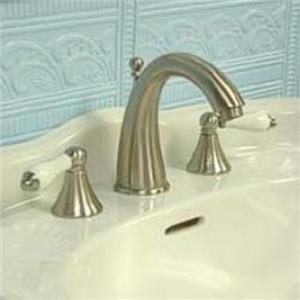 "Kingston Brass KS2978PL Naples 8"" -16"" Widespread Bathroom Sink Faucet - Satin Nickel"