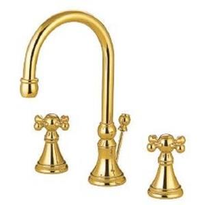 "Kingston Brass KS2982KX Governor 8"" Widespread Bathroom Sink Faucet - PVD Polished Brass"