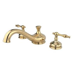 Kingston Brass KS3332NL Heritage Hertiage Roman Tub Filler With Lever Handle - Polished Brass