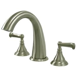 Kingston Brass KS5368FL Royale Roman Tub Filler With Lever Handle - Satin Nickel