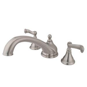 Kingston Brass KS5538FL Royale Classic Roman Tub Filler Faucet With Lever Handle - Satin Nickel