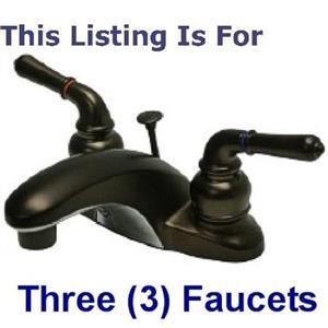 "3 - Kingston Brass KB625 Magellan  4"" Centerset Bathroom Sink Faucet - Oil Rubbed Bronze"