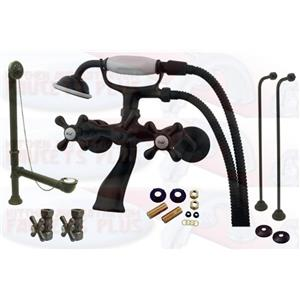 Kingston Brass Oil Rubbed Bronze Clawfoot Tub Faucet Package CCK265ORB