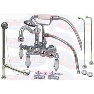 Kingston Brass CCK1010T1 Chrome Clawfoot Tub Faucet Kit