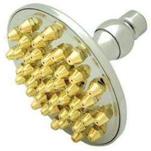 Kingston Brass Model# K134A4 Victorian Apollo Solid Brass Shower Head - Polished Chrome With Brass T