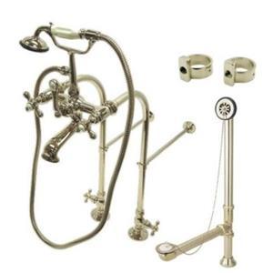 Kingston Brass CCK5178AX Clawfoot Bathtub Kit - Satin Nickel