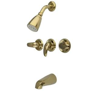 Kingston Brass KB232LL Tub & Shower Faucet - Polished Brass