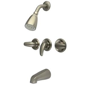 Kingston Brass KB238LL  Tub & Shower Faucet - Satin Nickel