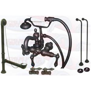 Kingston Brass Clawfoot Tub Faucet Kit Oil Rubbed Bronze- CCK1007T5