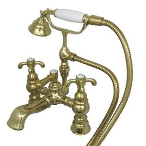 Kingston Brass Clawfoot Tub Filler With Hand Shower - Polished Brass Model # CC1158T2