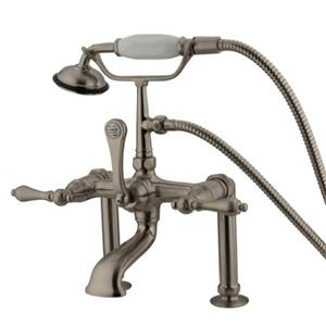 Kingston Brass Clawfoot Tub Filler With Hand Shower - Satin Nickel Model # CC103T8