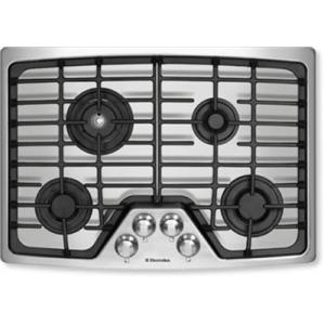"""Electrolux 30"""" 4 Burners Flex-2-Fit Continuous Grates SS Gas Cooktop EW30GC55GS"""
