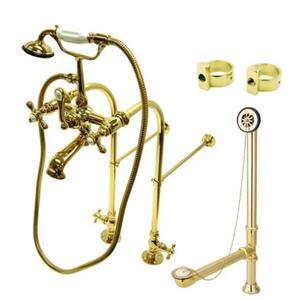 Kingston Brass CCK5172AX Clawfoot Bathtub Kit - Polished Brass