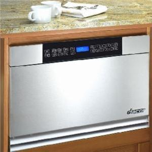 "DACOR  24"" 950 COOKING WATTS BUILT-IN MICROWAVE IN-A-DRAWER MMD24S STAINLESS"