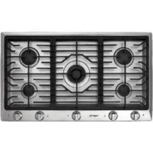 "Dacor 36"" 5 Sealed Gas Perma-Flame Burners Stainless Cooktop DCT365SNG"